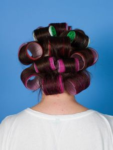 rollers in the hair